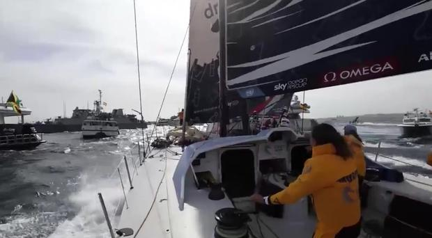 Footage from on-board the Turn the Tide on Plastic boat during the Volvo Ocean race
