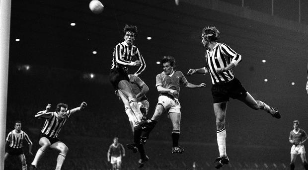 Manchester United play against Juventus in the Uefa Cup