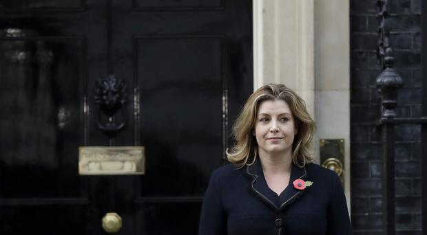 Penny Mordaunt leaving Downing Street