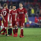 Liverpool players react to drawing 3-3 at Sevilla