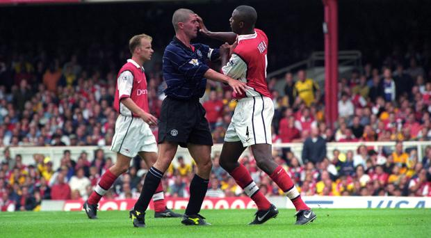 Roy Keane and Patrick Vieira square up