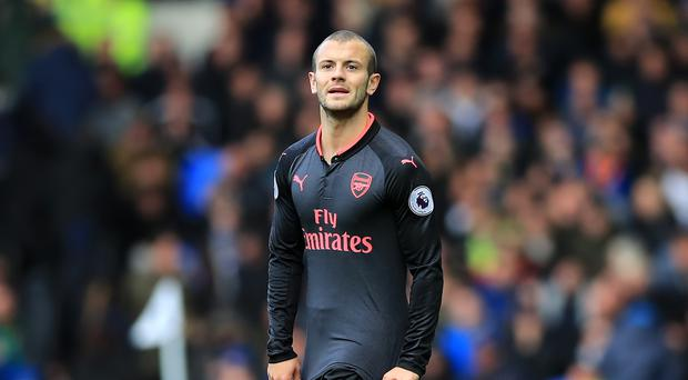 Arsenal's Jack Wilshere during the Premier League match at the Goodison Park
