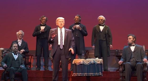 Donald Trump's robot at Disney World's Hall of Presidents