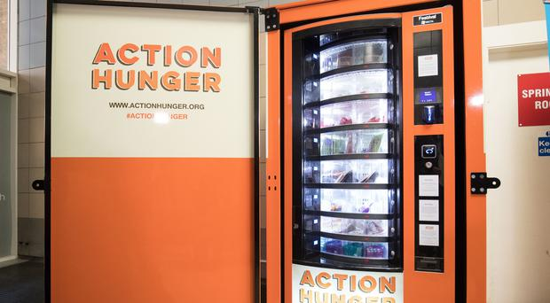 Vending machine for homeless.