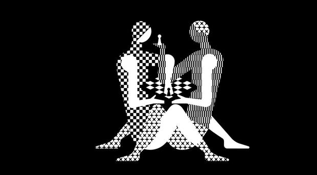 The World Chess Championship logo (World Chess/PA)