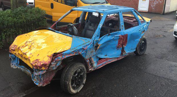 A car seized by police in Crewe, Cheshire (Cheshire Police)