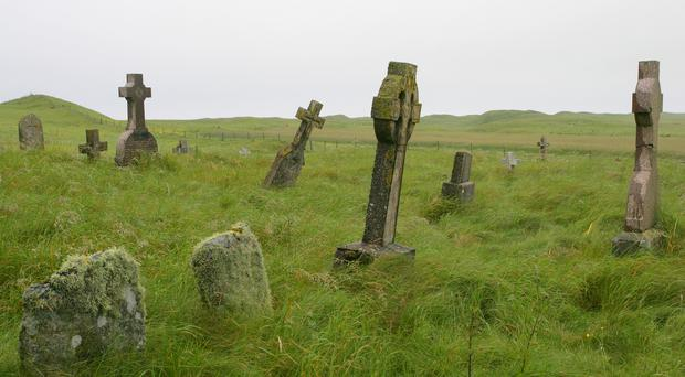 A graveyard in Scotland