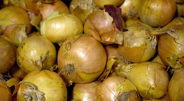 Lots of onions (Clive Gee/PA)