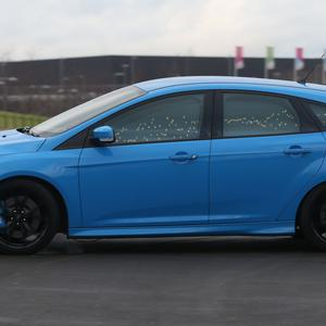 A Ford Focus RS that can display the driver's emotions using exterior lights