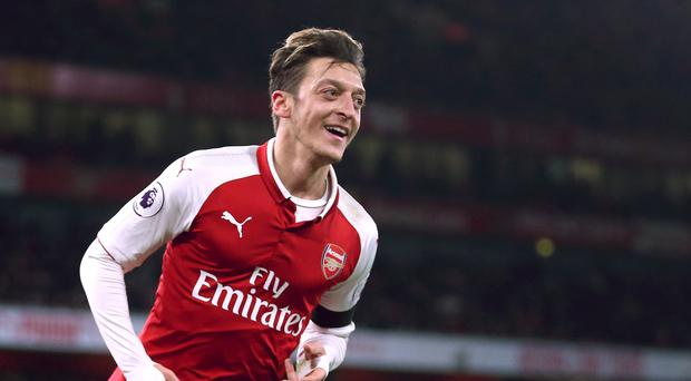 Arsenal midfielder Mesut Ozil (Nigel French/PA)