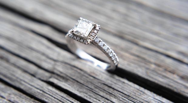 File pictures of an engagement ring