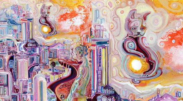 Josh Byer's painting, The Cat Who Stole The Sun