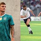 Toni Kroos in Germany's new away kit, and England v West Germany at the 1990 World Cup