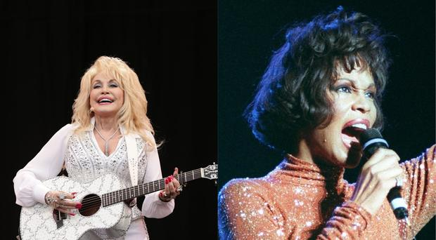 Dolly Parton and Whitney Houston