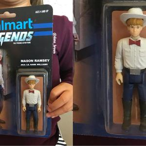 The action figure in its box