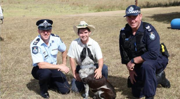 Max was made Queensland's first honorary police dog (Queensland Police/PA)