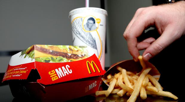 McDonald's meals are among the food items taken to the cinema (Steve Parsons/PA Wire)