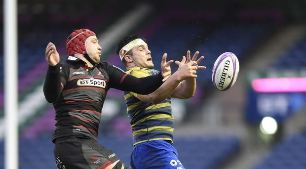 Cardiff's Ellis Jenkins wins the ball in the lineout (Ian Rutherford/PA)