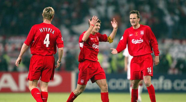 Former Liverpool captain Steven Gerrard during the 2005 Champions League final