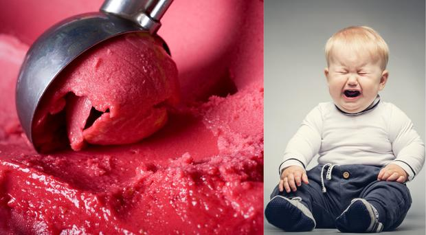 Ice cream/crying toddler (niseriN/psdphotography/Getty Images)