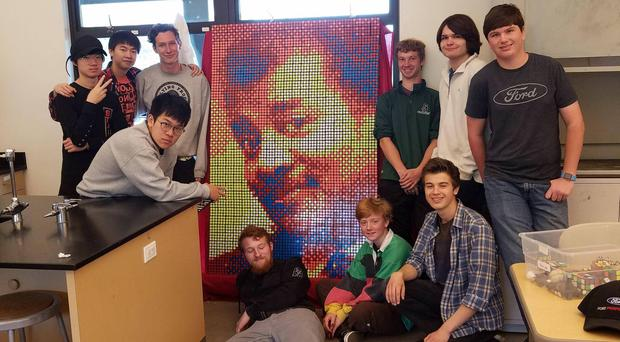 The image of Neil deGrasse Tyson made of Rubik's cubes (Thetrufflehunter/Reddit)