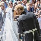 Meghan and Harry kiss at the Royal Wedding