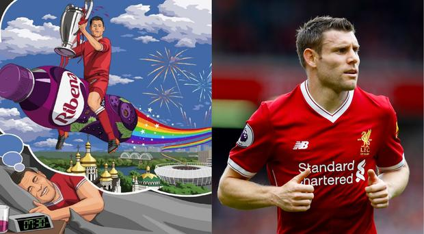 Ribena's cartoon featured the Liverpool star (Ribena/Martin Rickett/PA)