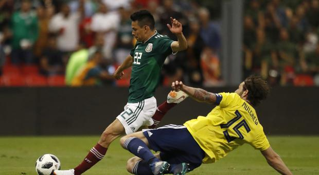 tHE GAME finished in a 1-0 defeat to Mexico (Eduardo Verdugo/AP)