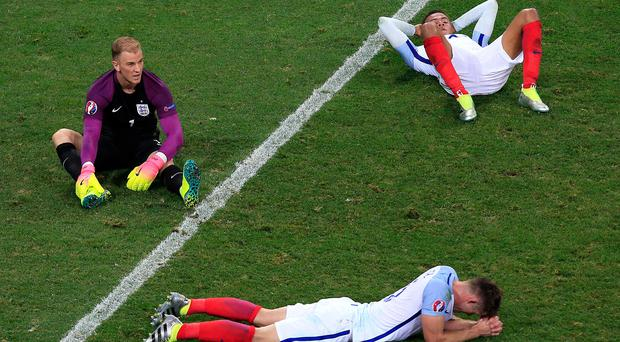 England footballers react to being knocked out of Euro 2016 (Jonathan Brady/PA)
