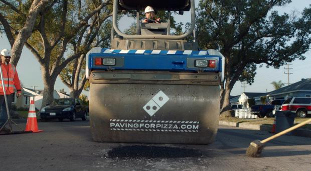 Road repairs have already occurred in towns in Texas, California and Georgia (Domino's)