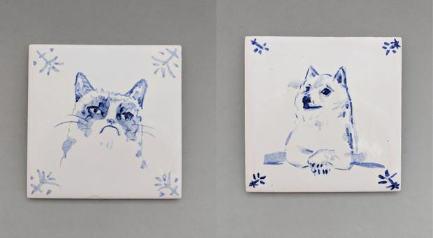 O'Carroll is taking orders for her ceramics on Instagram, and commissions personalised tiles (Isabelle O'Carroll)