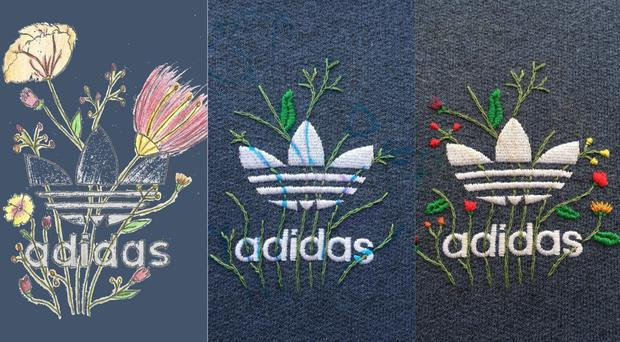 Shibby's adidas embroidery as a work in progress – (Shibby Hussain)