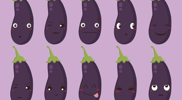 Cartoon aubergines with different expressions (lioputra/Getty Images)