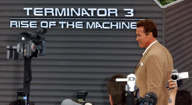 Arnold Schwarzenegger at the launch Terminator 3 (Ian West/PA)