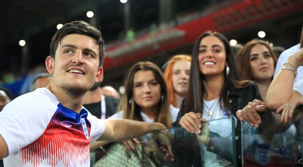 Harry Maguire and Fern Hawkins (Adam Davy/PA)