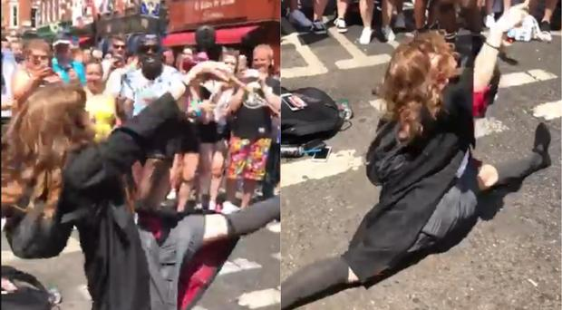 Dancing Hermione at Pride (@HannahSnow/Twitter)