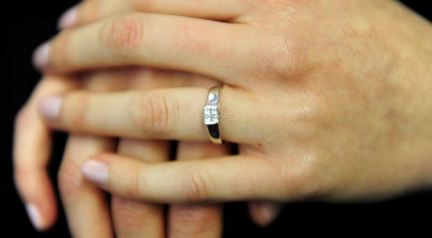 Diamond solitaire ring (Geoff Kirby/PA)