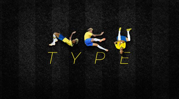 Neymar is used to form all the letters of the alphabet. (Luciano Jacob)