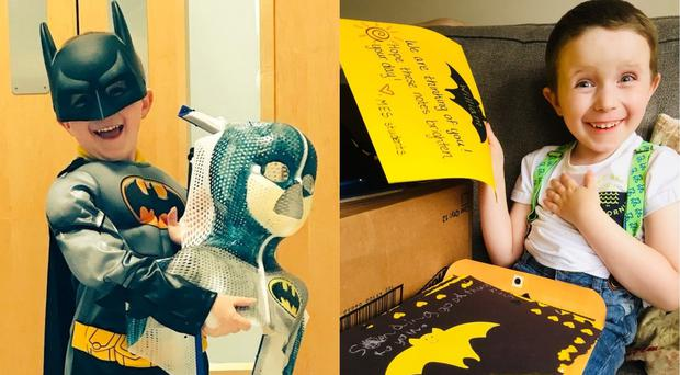 Brave William is a Batman fanatic (Courtesy of Lobke Marsden and William's family)