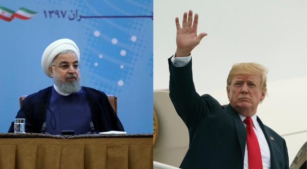 Iranian President Hassan Rouhani/US President Donald Trump (Carolyn Kaster/AP)