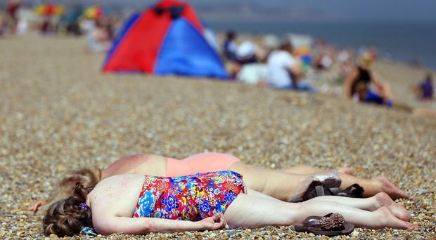 The blazing temperatures are set to continue this week (Jonathan Brady/PA)
