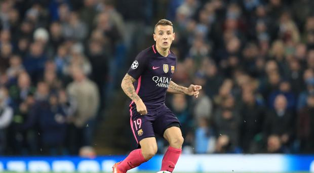 New Everton signing Lucas Digne playing for Barcelona (Tim Goode/PA)