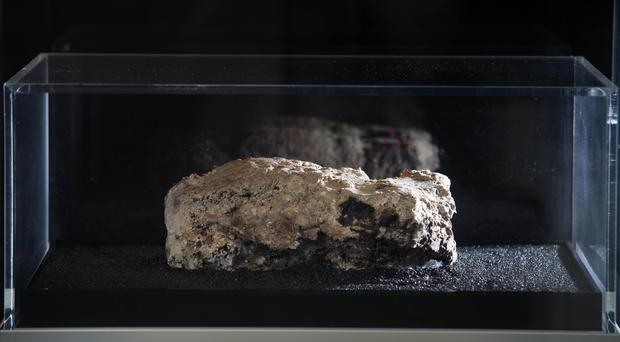 The last remaining piece of a monster fatberg that was discovered in Whitechapel sewers (David Parry/PA)
