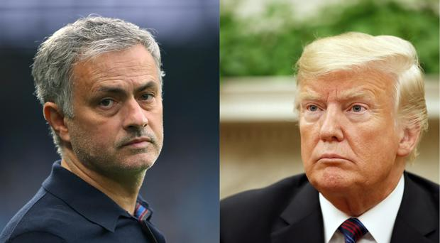 Manchester United manager Jose Mourinho and US President Donald Trump (Nick Potts/PA and Alex Brandon/AP)