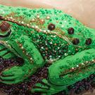 This growling grass frog was named the winning bake (Growling grass frog/The Threatened Species Bake Off)