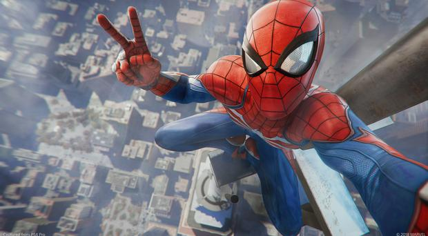 The game includes the ability to take photos of the webbed wonder mid-game (Marvel)