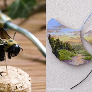 Katie Brooks creates art on natural objects (Katie Brooks)