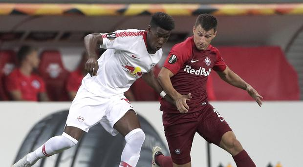 RB Leipzig and FC Red Bull Salzburg play against one another in the Europa League (Michael Sohn/AP)