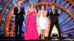 Craig Revel-Horwood, Darcey Bussell, Shirley Ballas and Bruno Tonioli at the launch of Strictly Come Dancing 2018 (Ian West/PA)