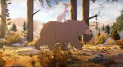 A scene from John Lewis' 2013 Christmas campaign featuring an animated woodland tale about a bear and a hare (John Lewis/PA)